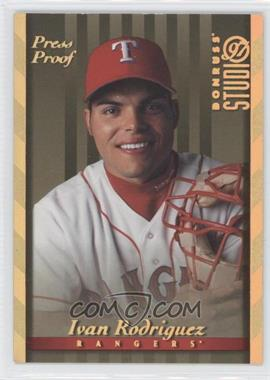 1997 Donruss Studio - [Base] - Gold Press Proof #108 - Ivan Rodriguez
