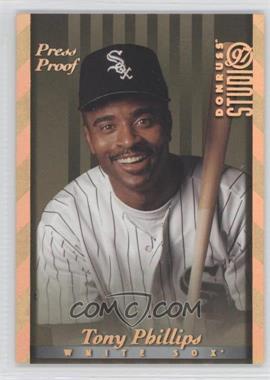 1997 Donruss Studio Gold Press Proof #114 - Tony Phillips