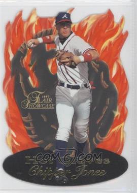 1997 Flair Showcase - Hot Gloves #7 - Chipper Jones