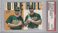 Jason Giambi, Mark McGwire [PSA 9]