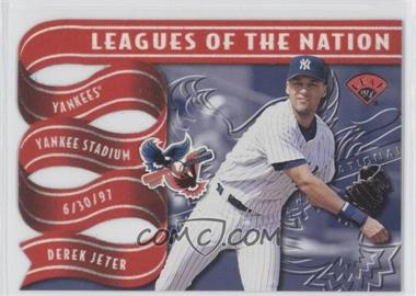1997 Leaf - Leagues of the Nation #4 - Derek Jeter, Kenny Lofton /2500