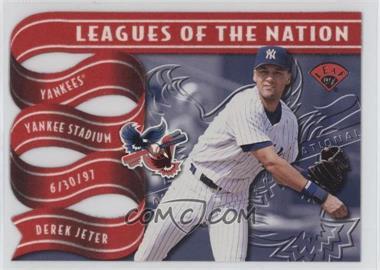 1997 Leaf Leagues of the Nation #4 - Derek Jeter, Kenny Lofton /2500