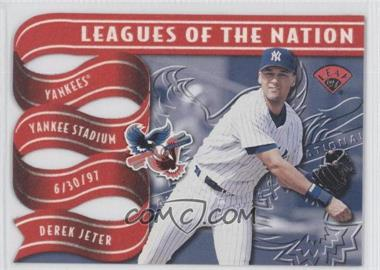 1997 Leaf Leagues of the Nation #4 - Derek Jeter, Kenny Lofton /2500