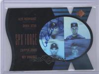 Alex Rodriguez, Derek Jeter, Chipper Jones, Rey Ordonez /100
