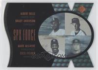 Albert Belle, Brady Anderson, Cecil Fielder, Mark McGwire /500