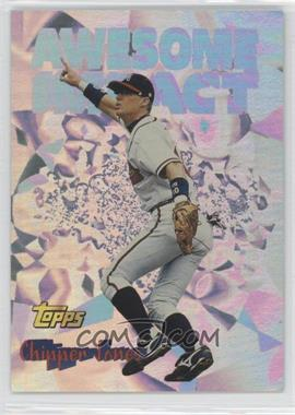 1997 Topps Awesome Impact #AI9 - Chipper Jones