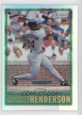 1997 Topps Chrome - [Base] - Refractor #39 - Rickey Henderson