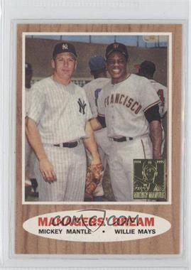 1997 Topps Mickey Mantle Reprints Factory Set #33 - Mickey Mantle, Willie Mays