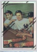 Hank Bauer, Yogi Berra, Mickey Mantle 1953 Bowman
