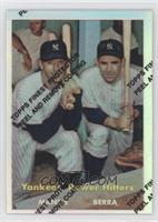 Mickey Mantle, Yogi Berra 1957 Topps