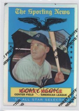 1997 Topps Mickey Mantle Reprints Finest Refractors #27 - Mickey Mantle (1957 Topps)