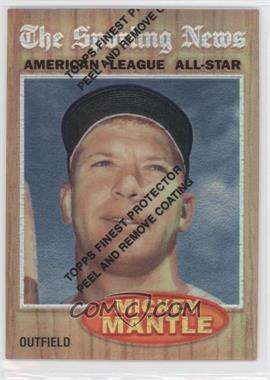 1997 Topps Mickey Mantle Reprints Finest Refractors #35 - Mickey Mantle (1962 Topps)