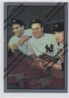 Hank Bauer, Yogi Berra, Mickey Mantle (1953 Bowman)