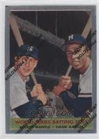Mickey Mantle, Hank Aaron (1958 Topps)
