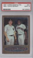 Mickey Mantle, Willie Mays (1962 Topps) [PSA 9]
