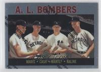 Roger Maris, Norm Cash, Mickey Mantle, Al Kaline (1964 Topps)