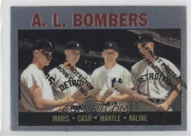 1997 Topps Mickey Mantle Reprints Finest #36 - Roger Maris, Norm Cash, Mickey Mantle, Al Kaline