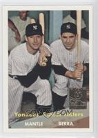 Mickey Mantle, Yogi Berra (1957 Topps)