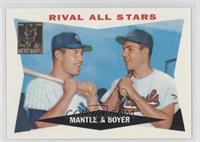 Mickey Mantle, Ken Boyer 1960 Topps