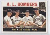 Roger Maris, Norm Cash, Mickey Mantle, Al Kaline (1964 Topps)