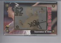 Mark McGwire (24 Karat Gold 62 Home Runs) /6200