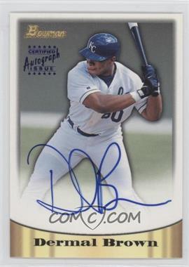 1998 Bowman - Certified Autograph Issue - Blue Foil #51 - Dee Brown