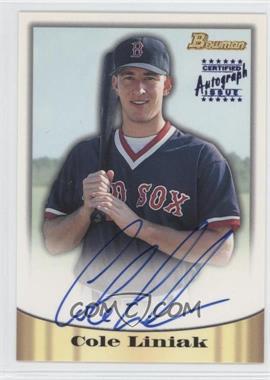 1998 Bowman - Certified Autograph Issue - Blue Foil #8 - Cole Liniak
