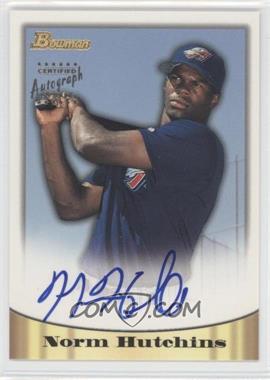 1998 Bowman - Certified Autograph Issue - Gold Foil #39 - Norm Hutchins