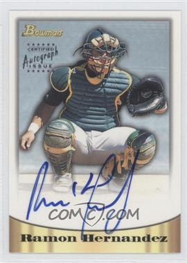 1998 Bowman - Certified Autograph Issue - Silver Foil #70 - Ramon Hernandez