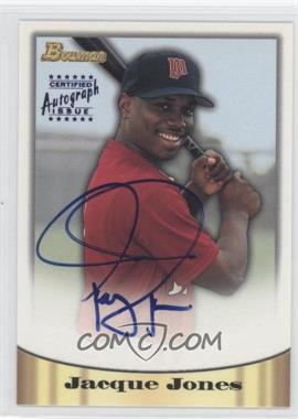 1998 Bowman Certified Autograph Issue Blue Foil #28 - Jacque Jones