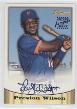 1998 Bowman Certified Autograph Issue Blue Foil #45 - Preston Wilson
