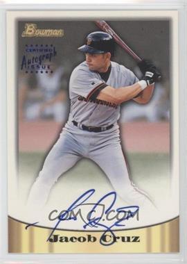1998 Bowman Certified Autograph Issue Blue Foil #50 - Jacob Cruz