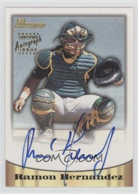 1998 Bowman Certified Autograph Issue Silver Foil #70 - Ramon Hernandez