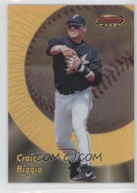 1998 Bowman's Best - [Base] - Refractor #61 - Craig Biggio /400