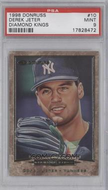 1998 Donruss Diamond Kings #10 - Derek Jeter /9500 [PSA 9]