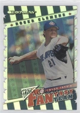 1998 Donruss Fan Club Fantasy Team Die-Cut #17 - Roger Clemens /250
