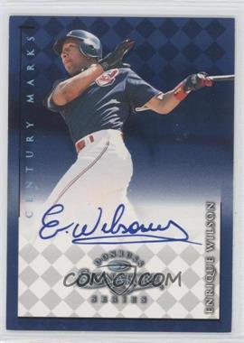 1998 Donruss Signature Series Autographs Century Marks #ENWI - Enrique Wilson /100