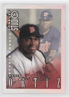 1998 Donruss Studio [???] #64 - David Ortiz /1000