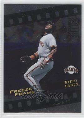 1998 Donruss Studio Freeze Frame #16 - Barry Bonds /4000