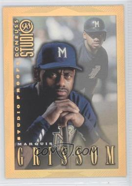 1998 Donruss Studio Studio Proofs Gold #178 - Marquis Grissom /300