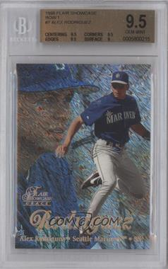 1998 Flair Showcase - Row 1 #7 - Alex Rodriguez [BGS 9.5]