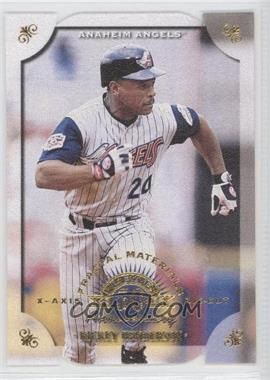 1998 Leaf Fractal Materials Die-Cuts X/Y- Axis #34 - Rickey Henderson /500