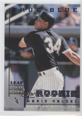 1998 Leaf Rookies & Stars - [Base] - True Blue #235 - Mario Valdez /500