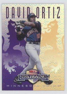1998 Leaf Rookies & Stars Crusade Update Purple #110 - David Ortiz /100