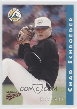 1998 Multi-Ad Sports West Michigan Whitecaps - [Base] #18 - Chad Schroeder