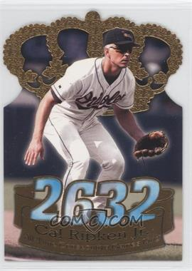 1998 Pacific Crown Collection Consecutive Games Gold Crown Die-Cut #1 - Cal Ripken Jr.