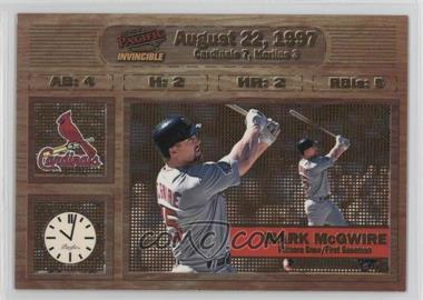 1998 Pacific Invincible - Moments in Time #15 - Mark McGwire