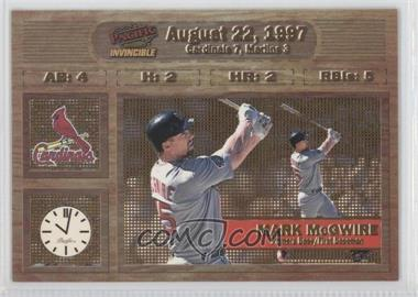 1998 Pacific Invincible Moments in Time #15 - Mark McGwire