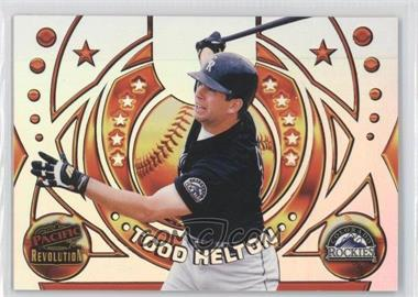 1998 Pacific Revolution Rookies and Hardball Heroes #6 - Todd Helton