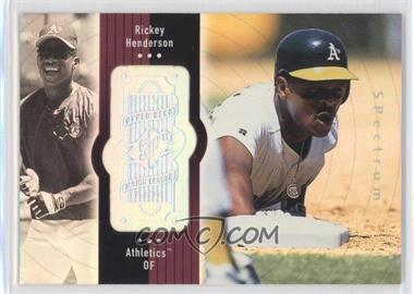 1998 SPx Finite - [Base] - Spectrum #110 - Rickey Henderson /2250